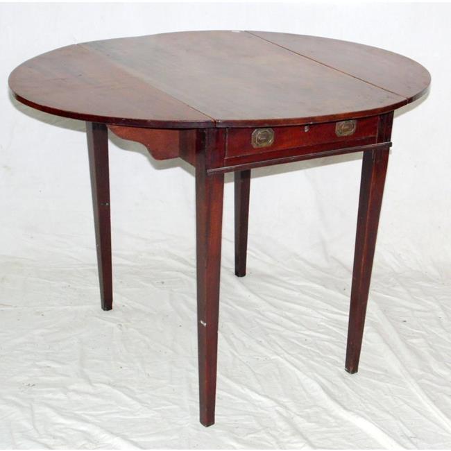 Georgian Oval Pembroke Table. Early 19thc