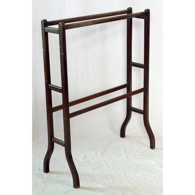 Edwardian Mahogany Towel Rail .Early 1900s