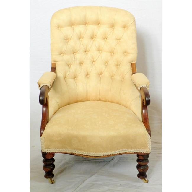 Antique William IV Mahogany Elbow Chair. 19thc.