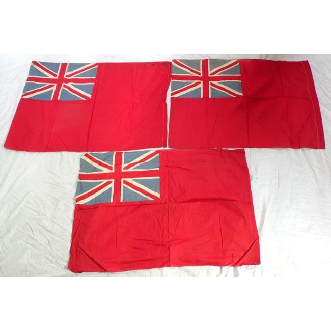 Antique British Red Ensign x 3