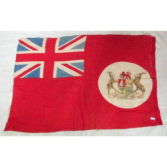 Rare Antique South African Red Ensign. Circa 1910