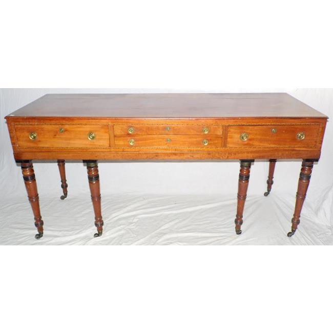 A Regency Mahogany Piano Forte Desk. Early 19thc