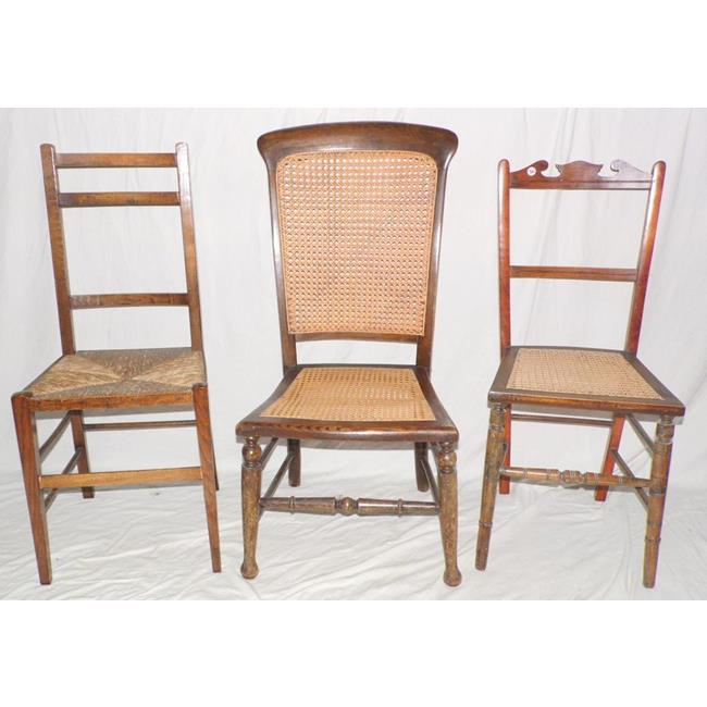 Edwardian Bergere Side Chairs