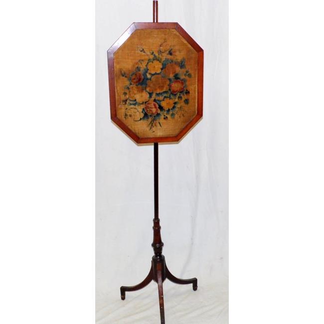A George lV Mahogany Pole Screen. Early 19thc.