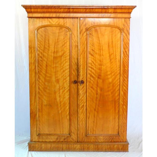 Antique Victorian Ash Linen Press.19thc