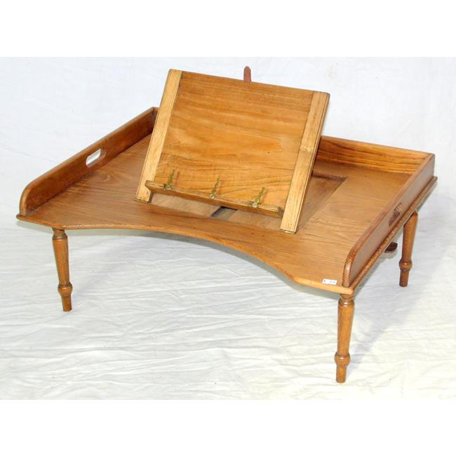 Antique Oak Bed Tray. Early 1900s