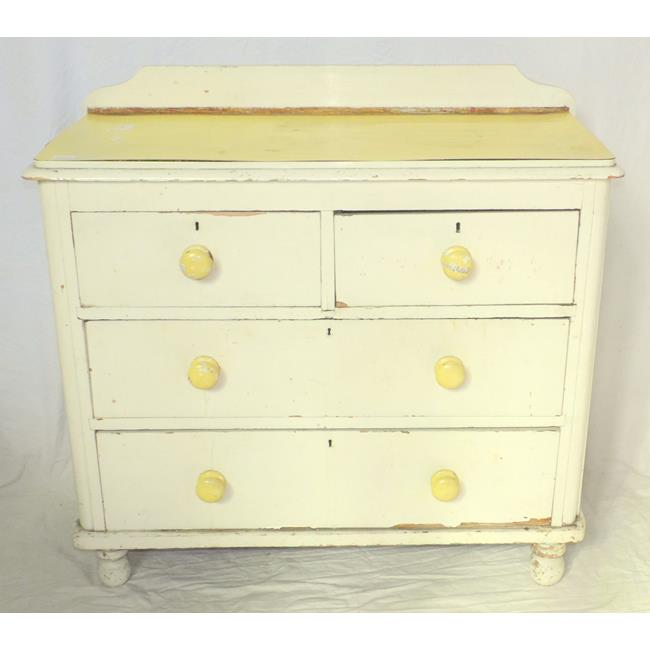 A Victorian Painted Pine Chest of Drawers.19thc