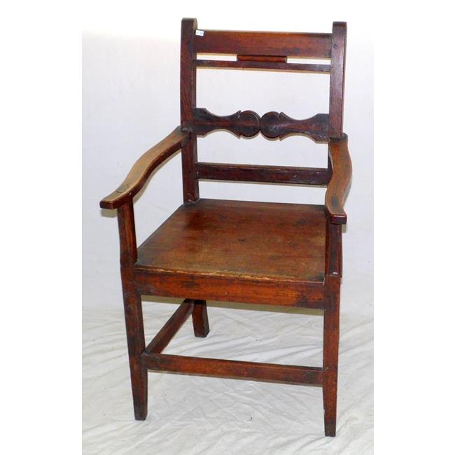 Victorian Pitch Pine Elbow Chair. 19th Century