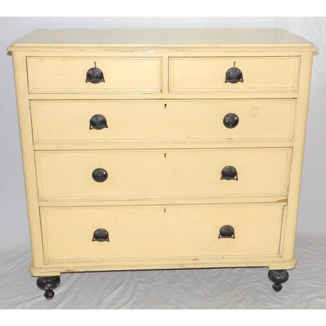 Victorian Painted Pine Chest.19th Century