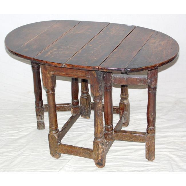 A Small Early 18th Century Oak Gateleg Table.