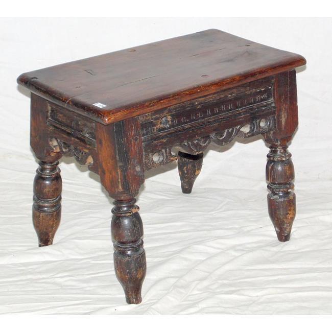 Antique 17thc Oak Stool.