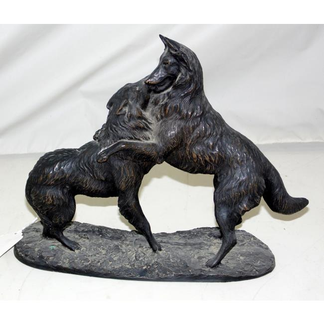 French Vintage Art Deco German Shepherd Sculpture