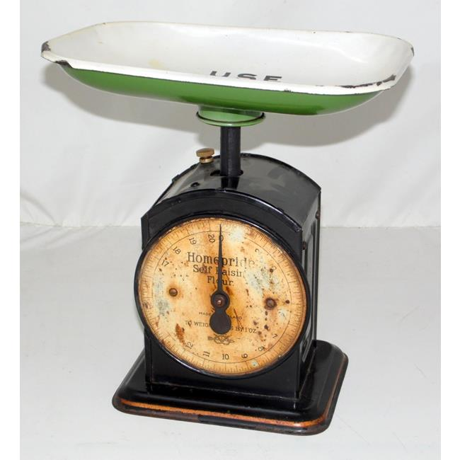 Vintage Enamel Homepride Kitchen Scales