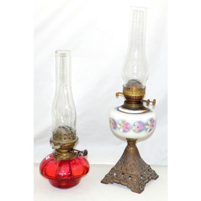 Antique Duplex Burner Oil Lamps