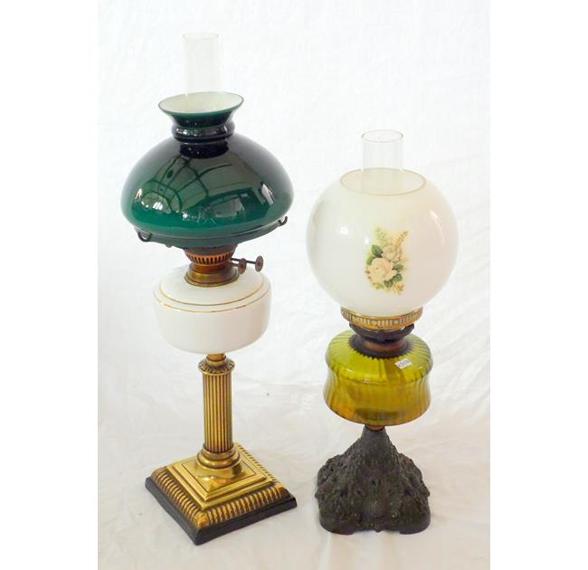 Antique Oil Lamps and Shades