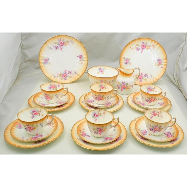 Royal Albert Crown Blush Ivory 22 Piece Tea Set.