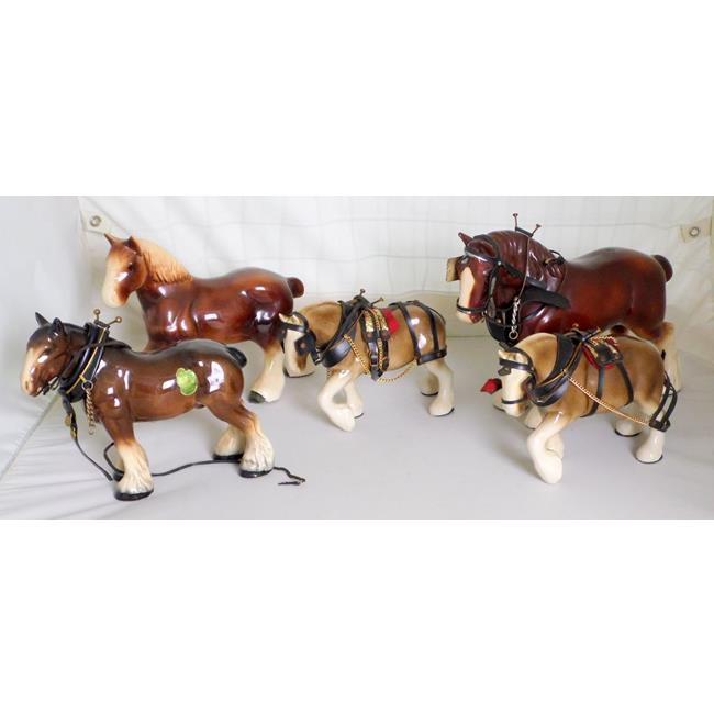 Collection of 5 Shire Horses