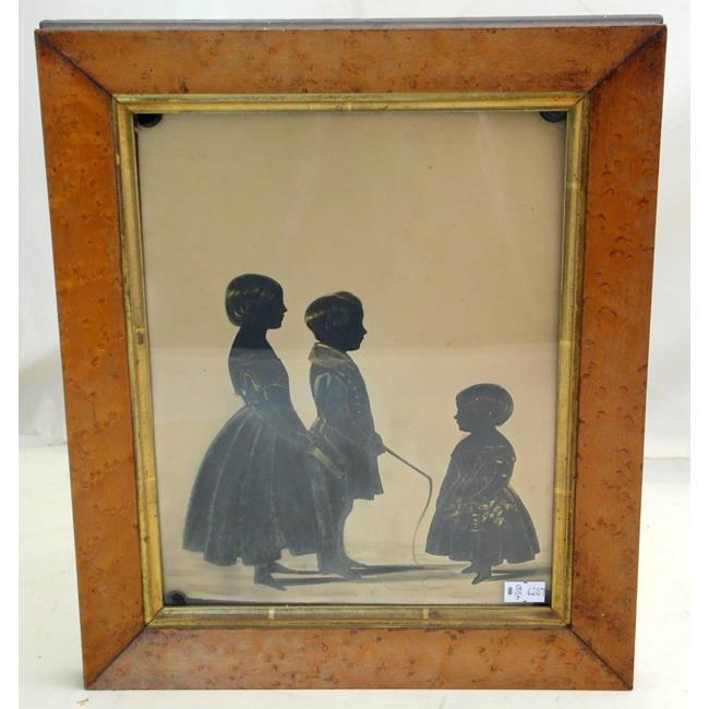 Victorian Shaw Children Silhouette. Circa 1843