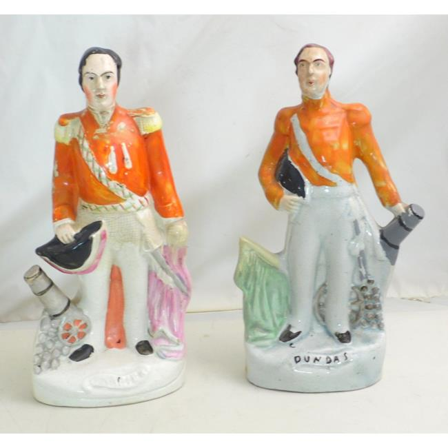 A Pair of Staffordshire Crimean Portrait Figures