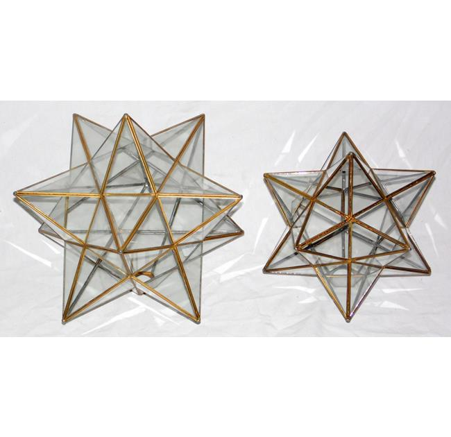 2 x Vintage Star Shaped Pendant Light Shades