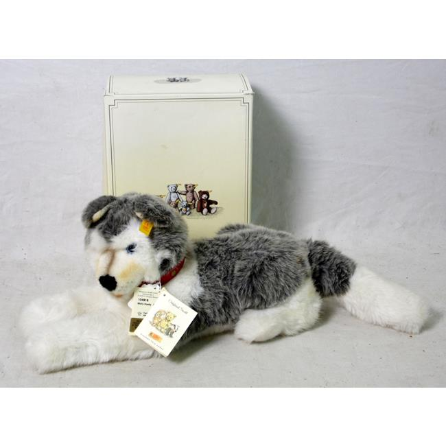 Steiff Molly Husky Dog 104916 Button & Tags 1991