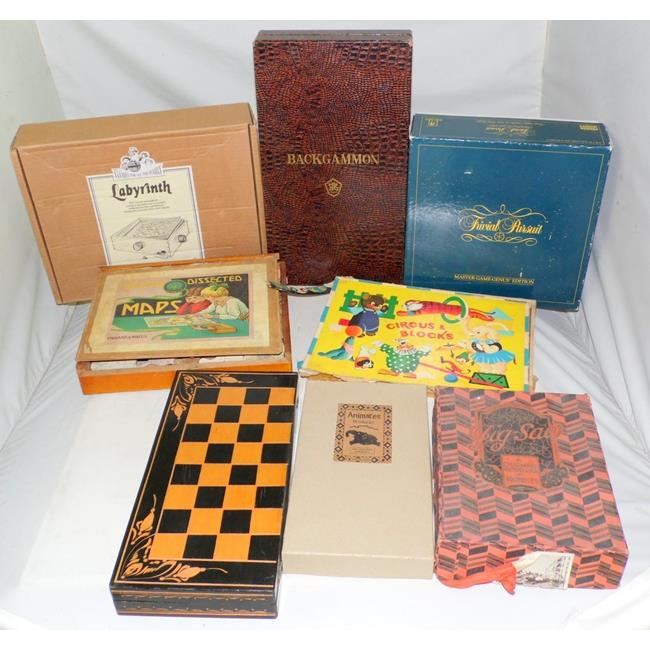 Vintage Collection of Wooden Jigsaws/Games