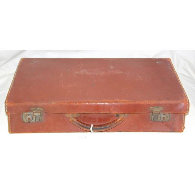Vintage Brown Leather Attache Case