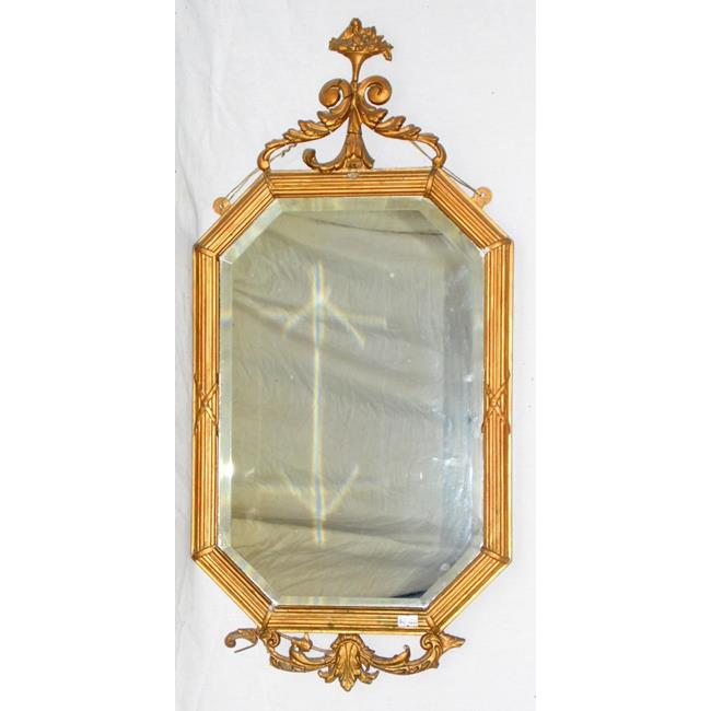 Decorative 19th Century Giltwood Wall Mirror.