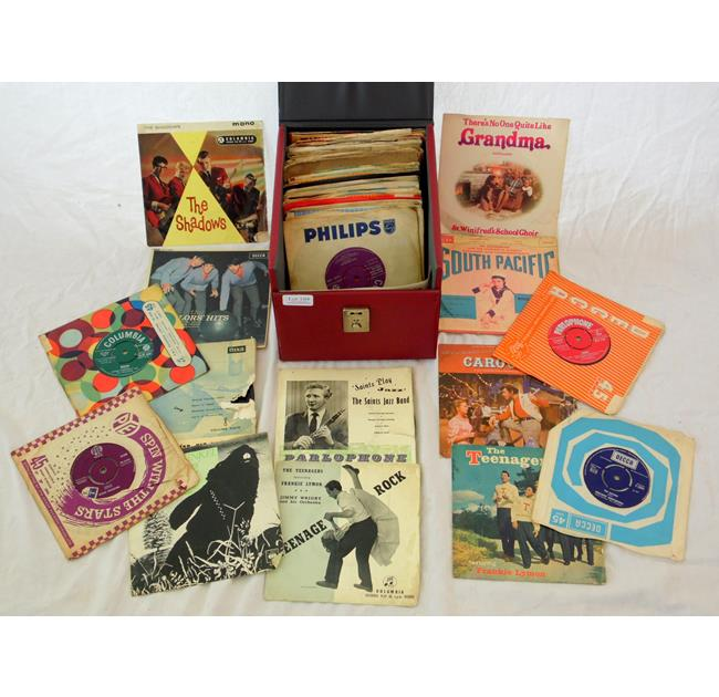 Vintage Collection of Pop 45 R.P.M. Records