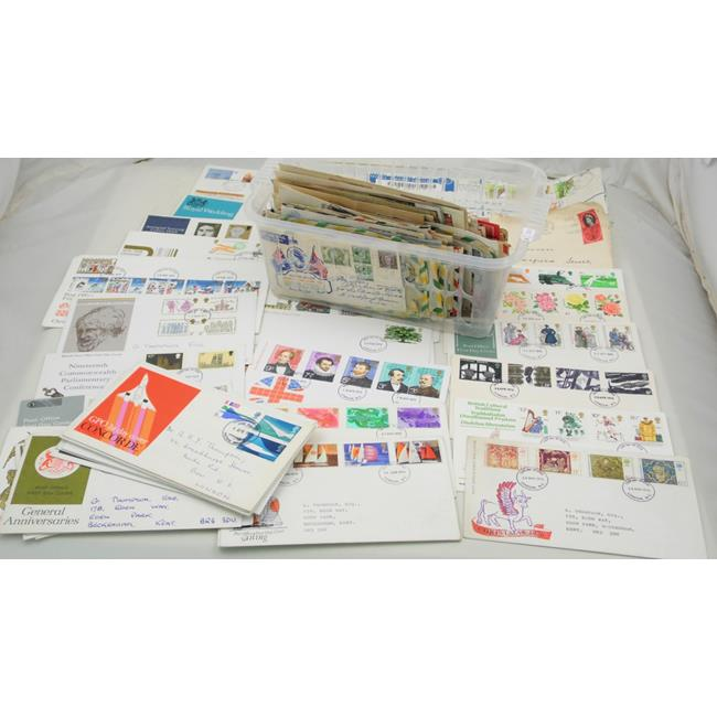Collection of Great Britain FDC and World Covers.