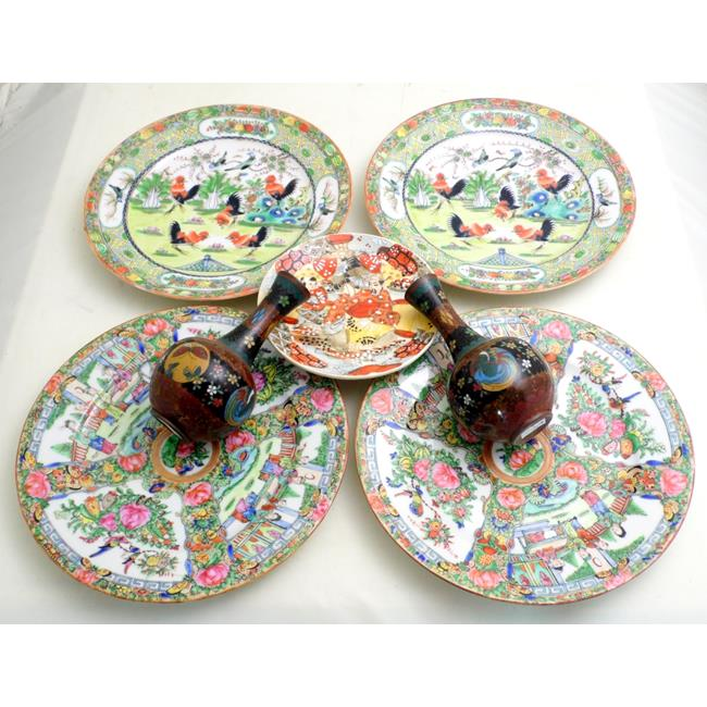 Vintage Chinese and Japanese Plates & Vases.