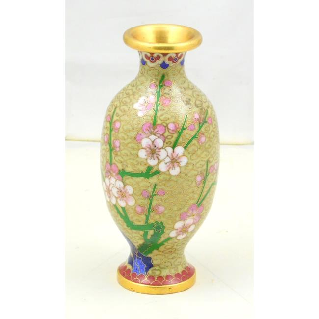 Chinese Cloisonne Vase with Prunus Decoration.