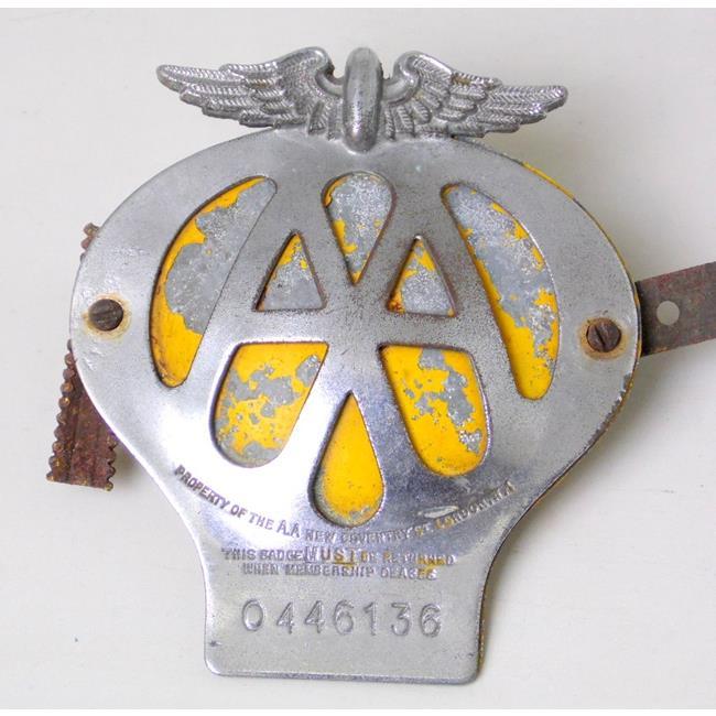 Vintage AA Badge No. 0446136