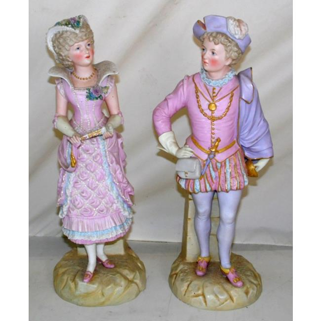 Large 19thc  Ernst Bohne Germany Bisque Figures