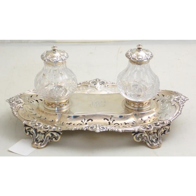 Victorian Sterling Silver Desk Set byJohn Brashier