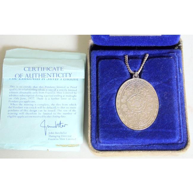 "Sterling Silver 'The Elizabeth R Silver Pendant"""