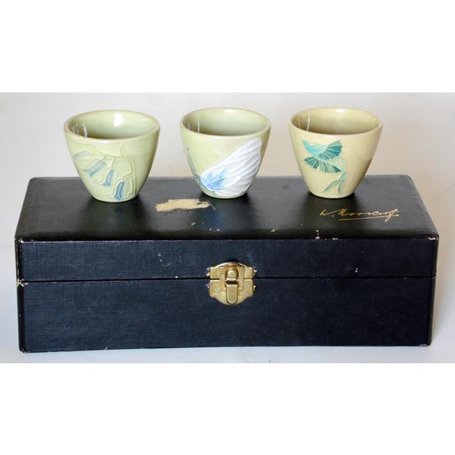 3 Moorcroft Saki Cups
