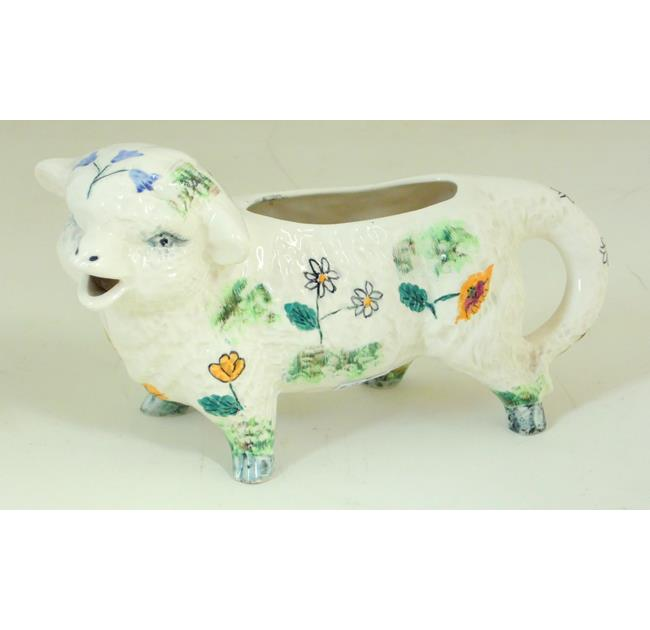 Shorter and Sons Hand Painted Lamb Creamer