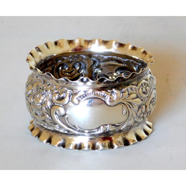 Victorian Ruffle Edge Napkin Ring 1901