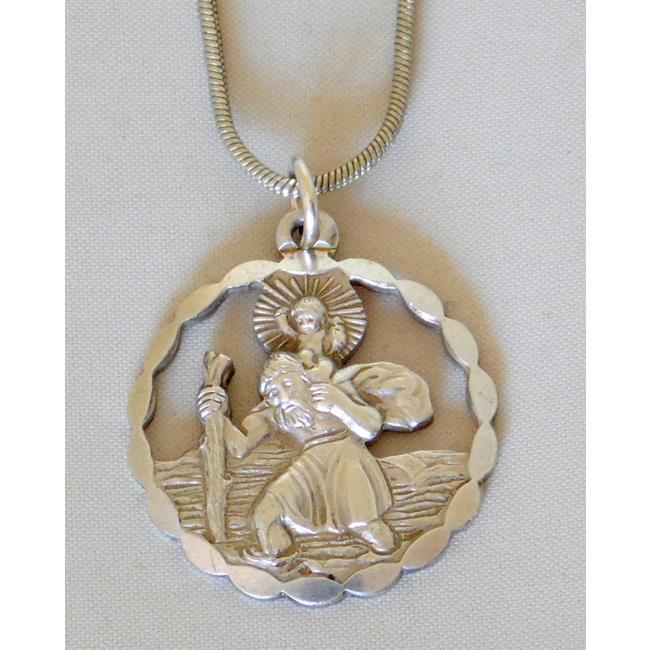 Silver Georg Jensen Pierced St.Christopher Pendant