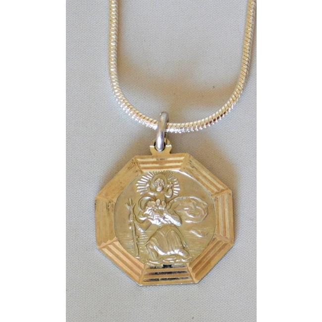 Silver Georg Jensen  St.Christopher Pendant