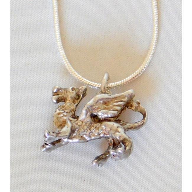 Silver Welsh Dragon Pendant