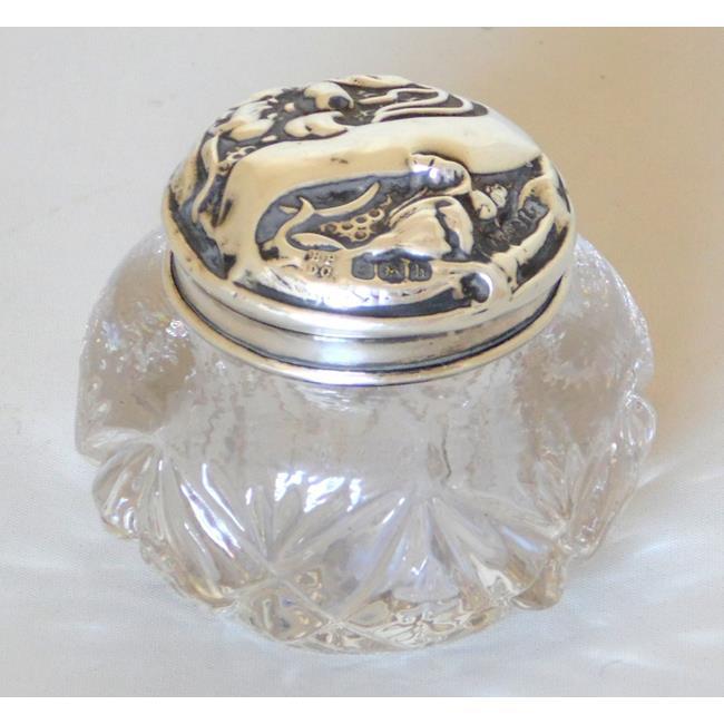Edwardian Art Nouveau Crystal Rouge Pot