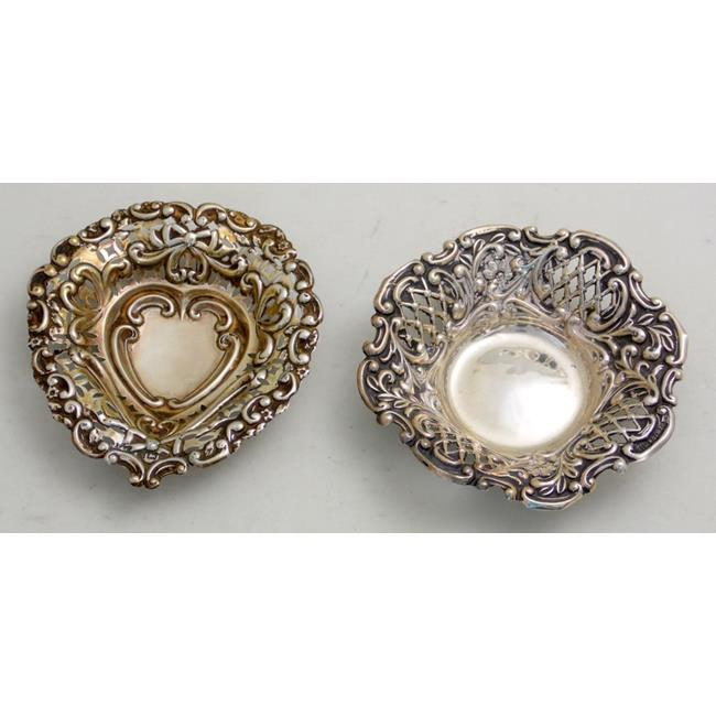 Edwardian Sterling Silver Pin Dishes.C1906/09