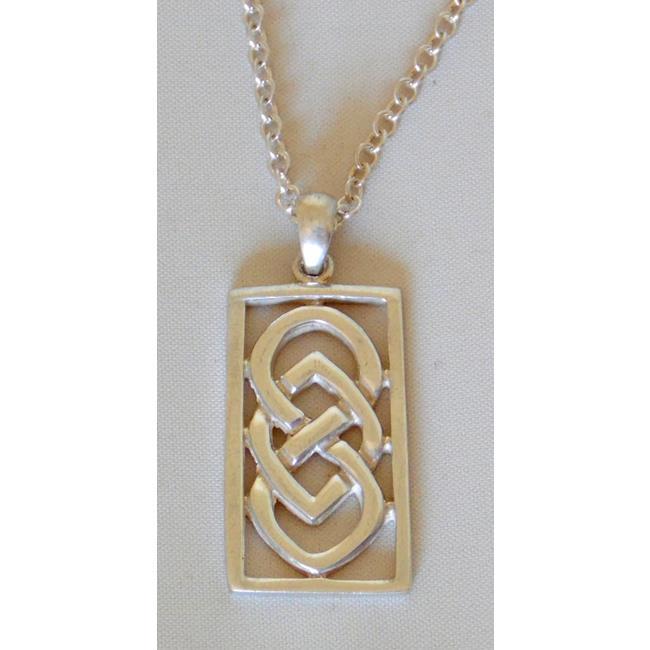 Sterling Silver Rectangular Celtic Knot Pendant