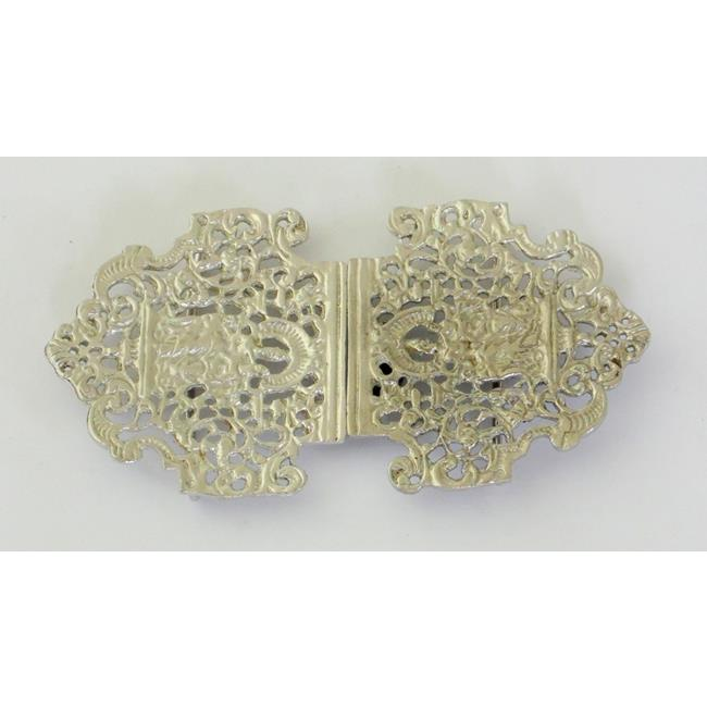Vintage Cast Sterling Silver Nurses Belt Buckle