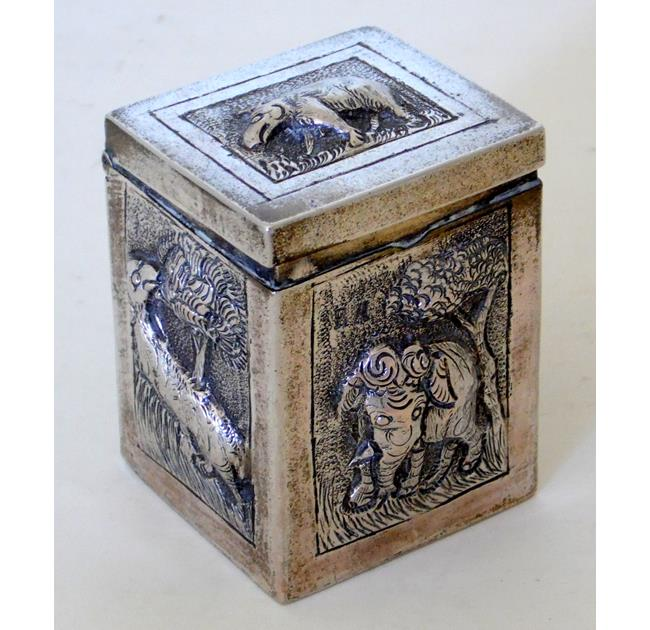 Antique Indian Silver Card Box