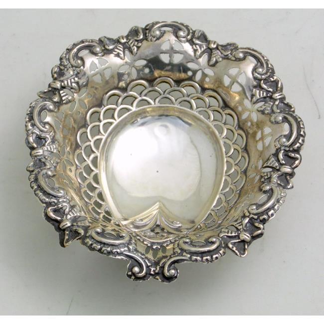 Victorian Silver Lucky Horseshoe Bon Bon Dish