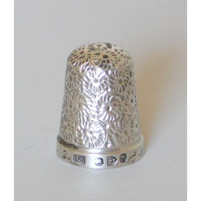 Victorian Sterling Silver Thimble Size 2