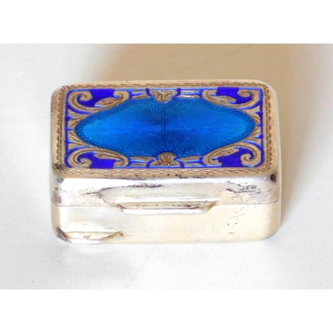 Italian Firenze .925 Enamel Pill Box